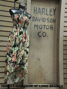 How pretty is this Harley dress by Tori Richard? With the latest in trendy hemlines, she'll look great in this high low dress!!  Harley-Davidson/Buell of Long Branch www.hdlongbranch.com