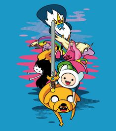 ADVENTURE TIME Original fanart Tee / T-shirt! all your favorites characters in my own style. Printed on a high quality, with exclusive designs. ADVENTURE TIME T-shirt! Adventure Time Characters, Adventure Time Anime, Cartoon Wallpaper, Adventure Time Iphone Wallpaper, Funny Iphone Backgrounds, Adventure Time Personajes, Jake The Dogs, Bubbline, Time Tattoos