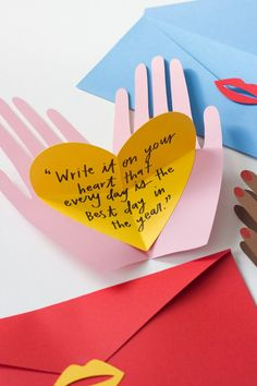 Hand holding hearts pop up Valentines - The House That Lars Built