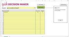 pro and con list template