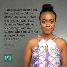 KNOWLEDGE OF SELF..... TATYANA ALI  Afro-Latinos face many challenges when it comes to identity particularly when people refuse to believe that being Black and Latino arent mutually exclusive experiences.  The former Fresh Prince of Bel-Airactress of Panamanian descent discussed the complexities of her identity and how people usually identify being Latino with being Mexican in NBC Universos Black and Latino documentary.