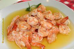 Creveti cu sos de usturoi Shrimp, Food And Drink, Meat, Salads
