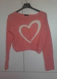 Kup mój przedmiot na #vintedpl http://www.vinted.pl/damska-odziez/bluzy-i-swetry-inne/16408514-rozowy-sweterek-crop-top-takko