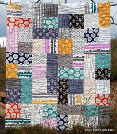 Lotta jansdotter fabric quilt - good idea of colour variation in collection