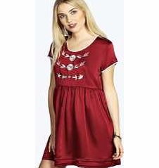 boohoo Eva Embroided Contrast Woven Smock Dress - berry No off-duty wardrobe is complete without a casual day dress. Basic bodycon dresses are always a winner and casual cami dresses a key piece for pairing with a polo neck , giving you that effortless eve http://www.comparestoreprices.co.uk/dresses/boohoo-eva-embroided-contrast-woven-smock-dress--berry.asp