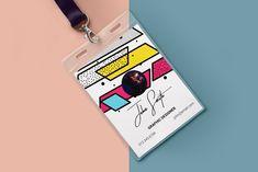 Memphis ID Card by Editéur Plus on Name Tag Design, Id Card Design, Id Design, Badge Design, Business Card Design, Identity Card Design, Employee Id Card, Id Card Template, Ticket Design