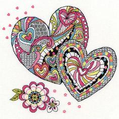 Henna Heart Cross Stitch Kit | sewandso