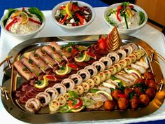 hidegtál Buffet, Cold Dishes, Party Platters, Sandwiches, Hot Dogs, Catering, Sausage, Food And Drink, Meat
