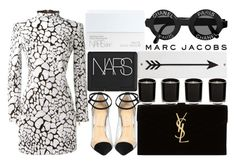 """.."" by lolmarly ❤ liked on Polyvore featuring NARS Cosmetics, Balmain, Christian Louboutin, Yves Saint Laurent, Linea, Rosanna and Marc Jacobs"