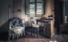 Biurko, Fotel, Lalka, Krzesło