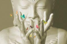 darksilenceinsuburbia: DevineDayDreams-aka Desirée Glanville. The Lotus Mudra (contemporary portrait of Buddha).