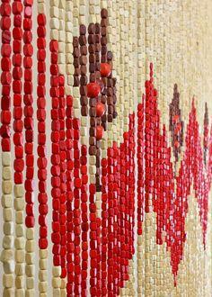 Bamboo Beaded Door Curtain Dreamcatcher Room Divider Or