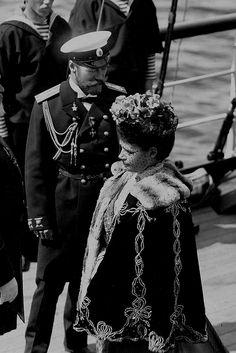 """memory-of-the-romanovs: """" """"Emperor Nicholas II and his mother Maria Feodorovna ( 9 June, 1908). """" """""""