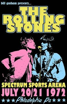This is my rendition of The Rolling Stones tour poster for a 1972 concert in PA. The times dates and places are real the artwork is mine. Printed on Premium Glossy Photo Paper with an Epson 1400 Printer for vivid colors and deep blacks. 11 x 17 Rock Posters, Band Posters, Poster Art, Retro Poster, Poster Prints, Vintage Concert Posters, Vintage Posters, Pop Rock, Rock N Roll