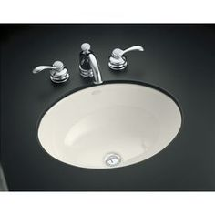 Kohler Caxton Biscuit Undermount Oval Bathroom Sink 2205-G-96