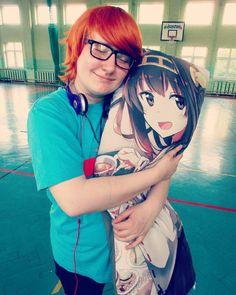 Sho-chan and his waifu XD  #nerd #nerdyboy #greek #greekboy #waifu #otaku #cosplay #arkhamer #sho_chan #school #gymclass #pillow #animepillow #katekyohitmanreborn #katekyohitmanreborncosplay #khrcosplay #love #headphones #anime #Kongou #kancolle #admiral #kantaicollection #irieshoichi #funny #animefan #lol #kawaii
