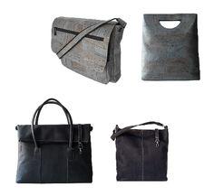 Und wieder sind einige interessante Business- und Handtaschen aus Korkleder eingetroffen...  www.faircustomer.ch/back_to_work/taschen Back To Work, Handbags, Blue, Leather