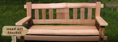 Really nice looking bench from the folks at Thuja Wood Art in British Columbia. They have some nice gates and tables too.