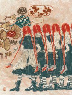 Yuko Shimizu.  Makes me think of a band of Pippi Longstocking clones.