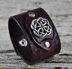 Celtic Reign Leather Cuff by Northernleather on Etsy