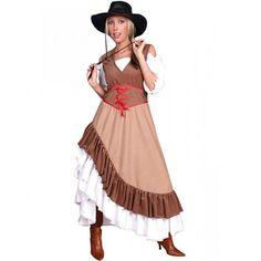 Cowgirl Cowboy Kleid für Damen Saloon Wilder Westen