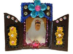 Frida Kahlo Matchbox Nicho//Shrine//Muertos by CherryPicks on Etsy