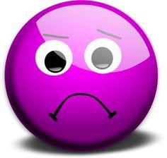 Clipart vectoriels de smiley expression compassion violet ...