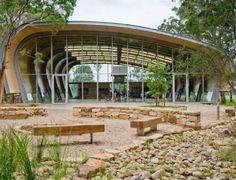 The Milson Island Sports Stadium Brings Jocks Nearer to Nature #wooden #architecture trendhunter.com