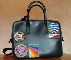 Catawiki online auction house: Saint Laurent – Museum multi-patch shoulder bag – Limited edition 2017
