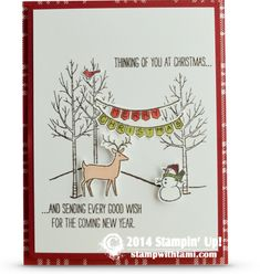 Stampin Up White Christmas stamp set christmas card deer snowman #stampinup #whitechristmas
