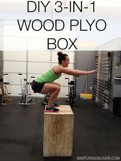 3-in-1 WOOD PLYO BOX for only $35! Step by step tutorial! #fitness