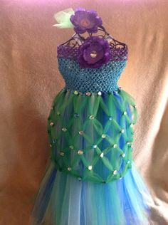 Ariel mermaid tutu dress