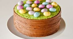 DIY Easter Basket Cake  Easy and colorful.