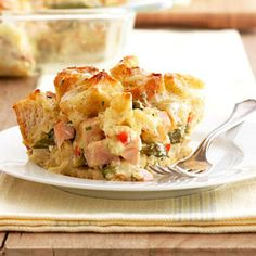 Smoked Chicken and Asparagus Strata From Better Homes and Gardens, ideas and improvement projects for your home and garden plus recipes and entertaining ideas.