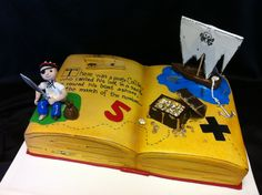 Awesome pirate cake with a fondant figure