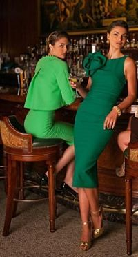Relaxed Luxury - Love the two piece green suit - a classic style that harks back to the 1960s.