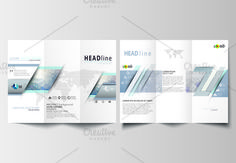 Tri-fold brochures v.18, abstract design brochure by VectorShop on @creativemarket