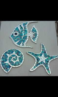 Shell Gift Glass mirror -Nautilus Shell Gift Glass mirror - Angelfish--Angelfish stained glass mosaic tile Rondine Swallow Schlucken mosaic gift made in italy Mosaic Garden Art, Mosaic Tile Art, Mosaic Artwork, Mirror Mosaic, Mosaic Crafts, Mosaic Projects, Mosaic Glass, Mirror Glass, Mirror Mirror
