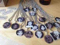Images resized, printed on shrink plastic make charms Lots of fun party ideas Deanna Moore Design: Pretzels & Brew Birthday Party Plastic Fou, Shrink Plastic Jewelry, Plastic Jewellery, Shrink Art, Shrink Film, Jewelry Crafts, Jewelry Art, Resin Jewelry, Jewlery