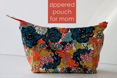 VERY SHANNON: SEWING || OPEN WIDE ZIPPERED POUCH