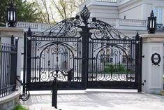 Manufacturer Shutter Doors And Gates India Front Gate Design, Main Gate Design, Door Gate Design, House Gate Design, Gate House, House Front Design, Fence Design, Front Gates, Entrance Gates
