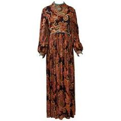 George Halley Beaded Paisley Gown
