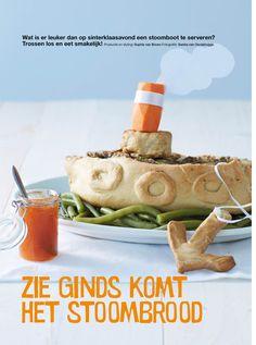 Leuk voor Pakjesavond: Gehakt-brood-boot  voor Sinterklaasavond~ Food Humor, Christmas And New Year, Diy Food, Four Seasons, Cake Recipes, Good Food, December, Cooking, Snacks