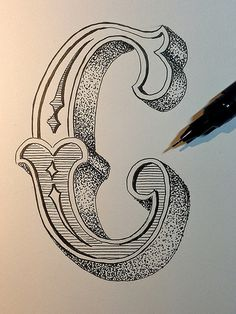 Crap, that was a lots of dots.. think I ruined my pen here.. oh well, it´s at least another letter for my alphabet..