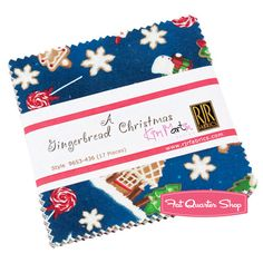 A Gingerbread Christmas Charm Pack Kim Martin for RJR Fabrics