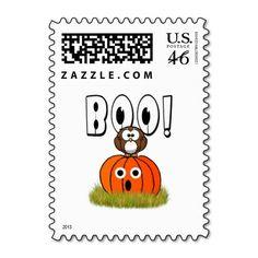 Halloween Pumpkin & Spooked Owl Stamps  #Halloween  #halloweenpostage #fallseasonsbest #boo