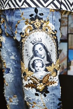 Dolce&Gabbana Summer 2016 Men's Fashion Show Backstage. *a very modern take on an religious icon...