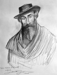 Retrato do pintor espanhol Jaime Payssa Y Laporta - 1981 - Grafite