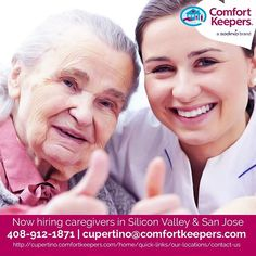 Apply for the latest jobs at Comfort Keepers. Visit http://cupertino.comfortkeepers.com/home/quick-links/our-locations/contact-us or call 408-912-1871. Be a Comfort Keeper now! #inhomecare #seniorcare #elderlycare #homecareassistants #homecare #eldercare  (scheduled via http://www.tailwindapp.com?utm_source=pinterest&utm_medium=twpin&utm_content=post123023007&utm_campaign=scheduler_attribution)