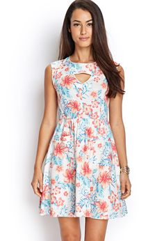 Retro Floral Cutout Dress | FOREVER21 #F21Contemporary #SummerForever